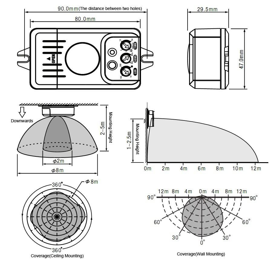 Livarno Lux Ceiling Light With Motion Sensor Instructions: Sensor SwitchMotion Sensor Switch- Luminhome.com : ISO9001